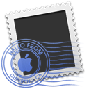 Letter, Message, Shaped, Email, envelop, Apple, mail Black icon