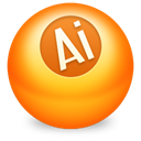 illustrator DarkOrange icon