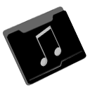 song, Folder Black icon
