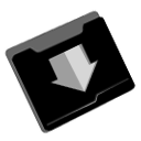 descending, download, fall, Decrease, Folder, Down, Descend Black icon