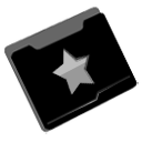 Folder, Favourite Black icon
