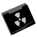 Folder, Radioactive Black icon