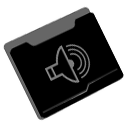 music, Folder Black icon