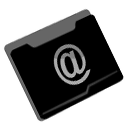 Folder, net, stuff Black icon