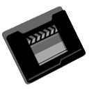 film, movie, Folder, video Black icon