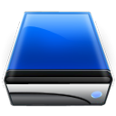 Blue, drive DarkSlateGray icon