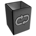 Empty, recycle, invert, Bin, Blank DarkSlateGray icon