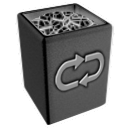 invert, recycle, Bin, Full DarkSlateGray icon