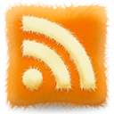 subscribe, Rss, feed, furry, Cushion DarkOrange icon