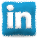 furry, Linkedin, Cushion LightSeaGreen icon