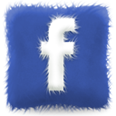 Social, furry, Facebook, Sn, social network, Cushion DarkSlateBlue icon