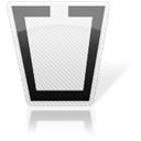 Trash, Blank, Empty, recycle bin Black icon