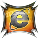 Explorer, internet Black icon