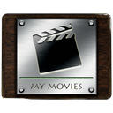 video, movie, my movies, film Black icon