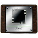 avg, Antivirus Black icon