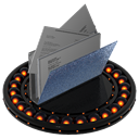 document, paper, File, Orange, my document Black icon