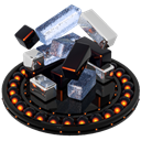Orange, Defrag Black icon
