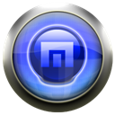 Blue, maxthon Black icon
