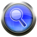 magnifying, Blue, glass CornflowerBlue icon