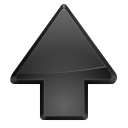 Black, upload, up black, increase, Ascend, Up, Ascending, rise Gray icon