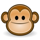 Face, monkey Black icon