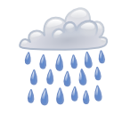 climate, weather, Shower CornflowerBlue icon