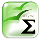 Openofficeorg, mathematics, math LightGreen icon