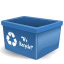 Account, recycle bin, new, user, profile, people, Trash, Human SteelBlue icon