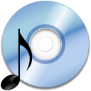 Cdrom, Gnome, Dev, Audio LightBlue icon