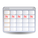 date, Schedule, Evolution, Calendar WhiteSmoke icon