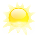 Fog, climate, weather Yellow icon