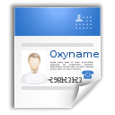 Vcard, profile, business card Black icon