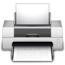 Print, printer Gainsboro icon