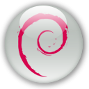 Debian, start, here Silver icon