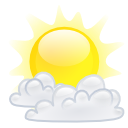 climate, weather, Cloud, few Yellow icon