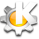 start, Kde, here Black icon
