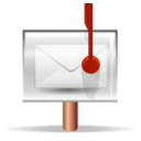 post, stock, Message Black icon