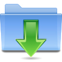 Folder, Downloads CornflowerBlue icon