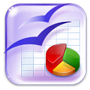 Openofficeorg, calculation, calculator, Calc Lavender icon