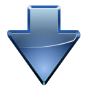 Decrease, fall, descending, Blue, Down, download, Descend SteelBlue icon