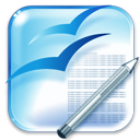 writer, Openofficeorg SkyBlue icon
