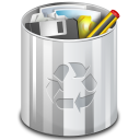 Full, old, trash can Black icon