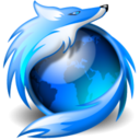 newschool, Firefox, Browser DodgerBlue icon