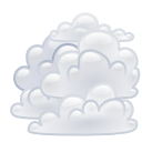 Overcast, climate, weather Gainsboro icon