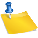 Note, sticky Gold icon