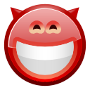 Face, Devil, grin IndianRed icon