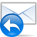 Email, reply, envelop, Response, mail, Letter, Message DodgerBlue icon