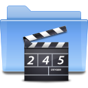 video, Folder CornflowerBlue icon