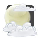 climate, Cloud, few, night, weather Lavender icon