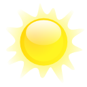 climate, Clean, Clear, weather Yellow icon